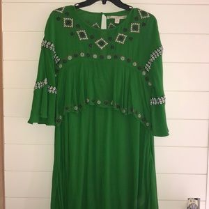 Chelsea and Violet dress, boho, green, M, beach